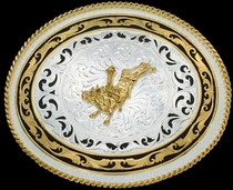 Figure Belt Buckle 61359 by Montana Silversmiths