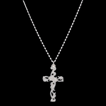 Filigree Silver Cross Necklace (NC2267D)