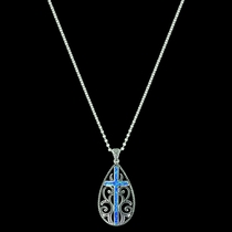 Filigree Water Lights Cross Necklace (NC3555)