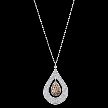 Flower's Champagne Spark Necklace (NC2709)