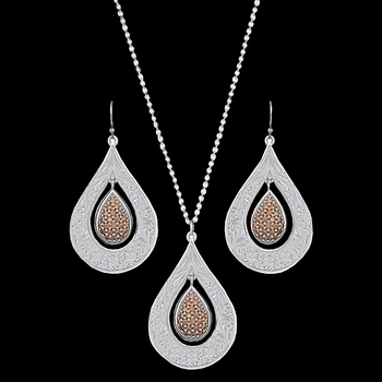 Flowers Champagne Spark Jewelry Set (JS2709)