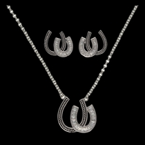 Following in Your Footsteps Horseshoes Jewelry Set (JS2233)
