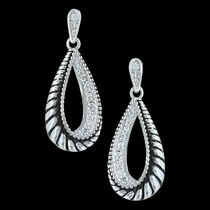 Frosted Rope Twist Earrings (ER3213)
