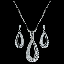 Frosted Rope Twist Jewelry Set (JS3213)