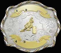 German Silver Trophy Buckle G61153 by Montana Silversmiths