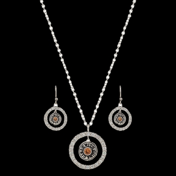 Girls with Guns® Encircled Back of the Bullet Charm Jewelry Set  (JS2786GWG)