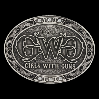 Girls With Guns Triple Bling Attitude Buckle (A527GWG)