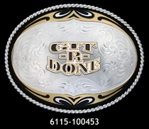 Git-R-Done Belt Buckle by Montana Silversmiths