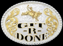Git-R-Done Buckle by Montana Silversmiths