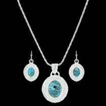 Glacier Pools of Turquoise Jewelry Set (JS3354)