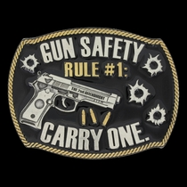 Gun Safety Rule #1 Attitude Buckle (A632)