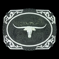 Gunmetal Cameo Filigree with Longhorn Steer Buckle (25815SB-767M)