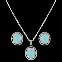 Haloed Summer Skies Jewelry Set (JS3417)