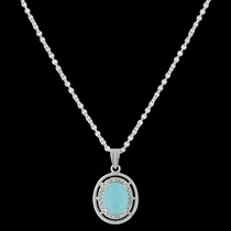 Haloed Summer Skies Necklace (NC3417)