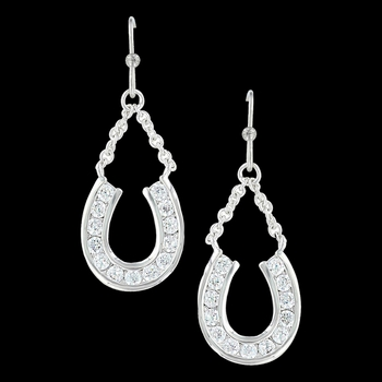 Hanging Horseshoe Basket Earrings (ER3415)