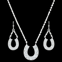 Hanging Horseshoe Basket Jewelry Set (JS3415)