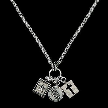 Hard Work Faith and Dreams Charm Necklace (NC1425)
