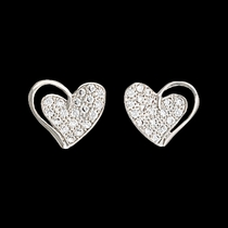 Heart Print Earrings  (ER2512)