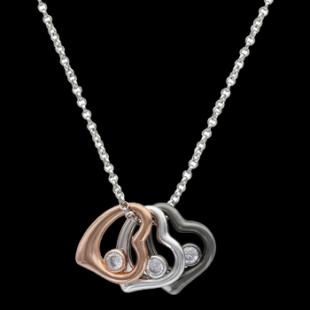 Hearts of a Different Color Necklace (NC2776)