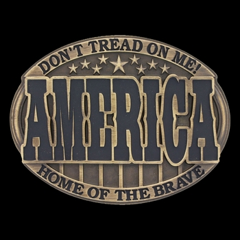 Heritage America Home of the Brave Attitude Buckle (A601C)