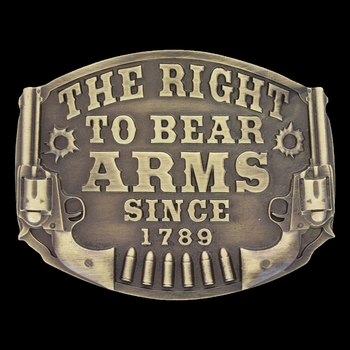 Heritage The Right to Bear Arms Attitude Buckle (A603C)
