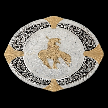 High Plains Cardinal Points Belt Buckle with End of the Trail Figure (24418-595)