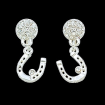 Horseshoe Dangle Crystal Earrings (ER61239)