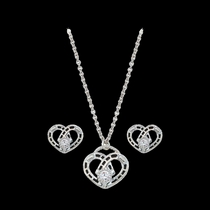 Horseshoe Heart Jewelry Set (JS61243)
