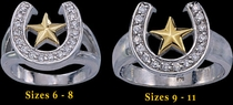 Horseshoe Star Ring by Montana Silversmiths