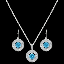 Hot Summer Days Halo Jewelry Set  (JS3422)