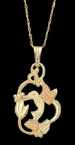 Hummingbird Necklace - Black Hills Gold - Landstrom's 03533