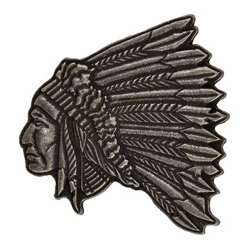 Indian Chief Portrait Shaped Attitude Buckle (A424)