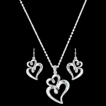 Infinite Love Heart Jewelry Set (JS3309)