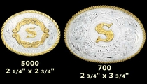 Initial Belt Buckles by Montana Silversmiths
