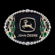 John Deere Attitude on Fire Belt Buckle (A195JDP)