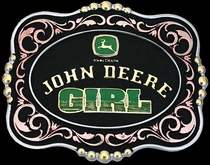 John Deere Girl Belt Buckle