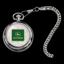 John Deere Logo Figure Pocket Watch (WATCHP20-JD5F)