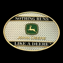 John Deere: Nothing Runs like a Deere on Sheet Metal Attitude Buckle (61173P)
