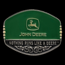 John Deere Oval Painted Buckle (A449JD)