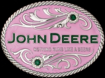 John Deere Pink Belt Buckle