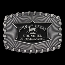 John Deere Whipped Stitch Edge Attitude Buckle (A556JD)