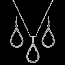 Laced Teardrop Jewelry Set (JS3195)