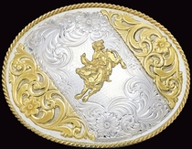 Large German Silver Buckle by Montana Silversmiths