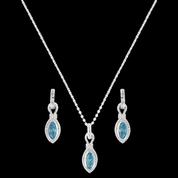 Lassoed Blue Star Lights Jewelry Set (JS3027)