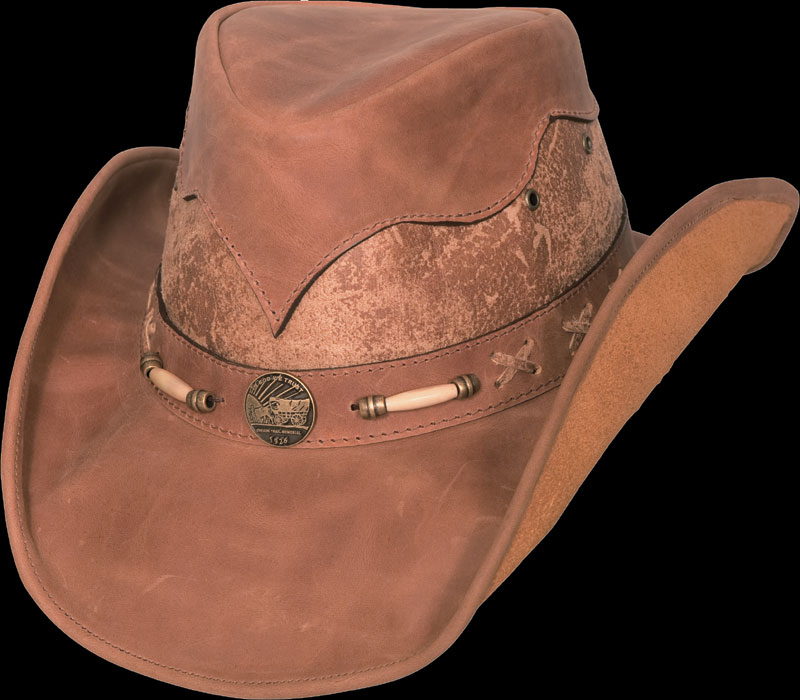 Leather Hat  Aspen Ranch  from Bullide by Montecarlo Hat Co. 1f94237255f