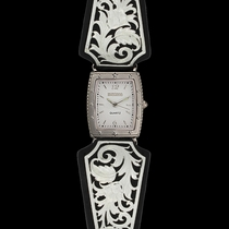 Leathercut Floral Scroll Dress Watch (WCH2816D)