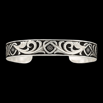 LeatherCut Riveted Knot Cuff Bracelet (BC2615)