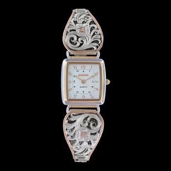Leathercut Rose Gold Expansion Band Watch (WCH2877RG)