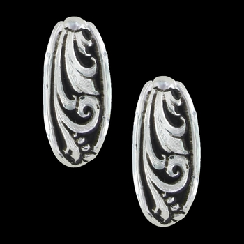 LeatherCut Trailing Vine Half Hoop Earrings (ER2837)