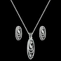 LeatherCut Trailing Vine Jewelry Set (JS2837)